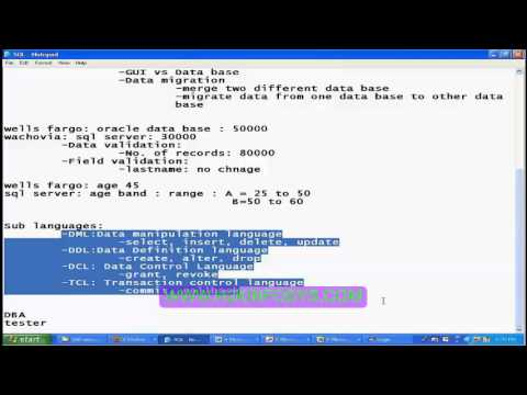 Database Testing   SQL Videos,QA Testing Online Training   Test Cases   QA Tutorials for Beginners