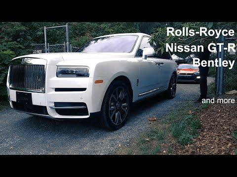Glamorous supercars parade: Rolls-Royce, Porsche, Bentley, Nissan GT-R, Karma, Audi, Honda, McLaren