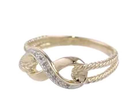 Yellow Gold Infinity Diamond Ring