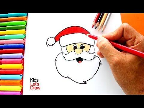 Aprender A Dibujar A Papa Noel Muy Fácil How To Draw Santa Claus