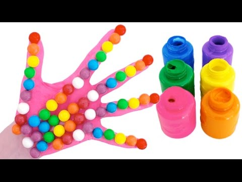 Thumbnail: Learn Colors for Children Body Paint Candy Finger Family Song Nursery Rhymes RainbowLearning
