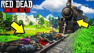 CAN 19 OUTLAWS STOP THE TRAIN in Red Dead Online? RDR2 Online Funny Moments