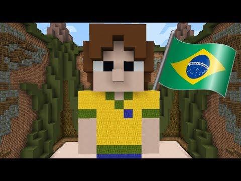 Minecraft: JOGANDO BUILDÃO EM SERVIDOR BRASILEIRO PELA PRIMEIRA VEZ!!! (BUILD BATTLE)