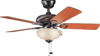 Promo Kichler Lighting 337014obb Sutter Place Select 42 Inch Ceiling Fan Oil Brushed Bronze Finish