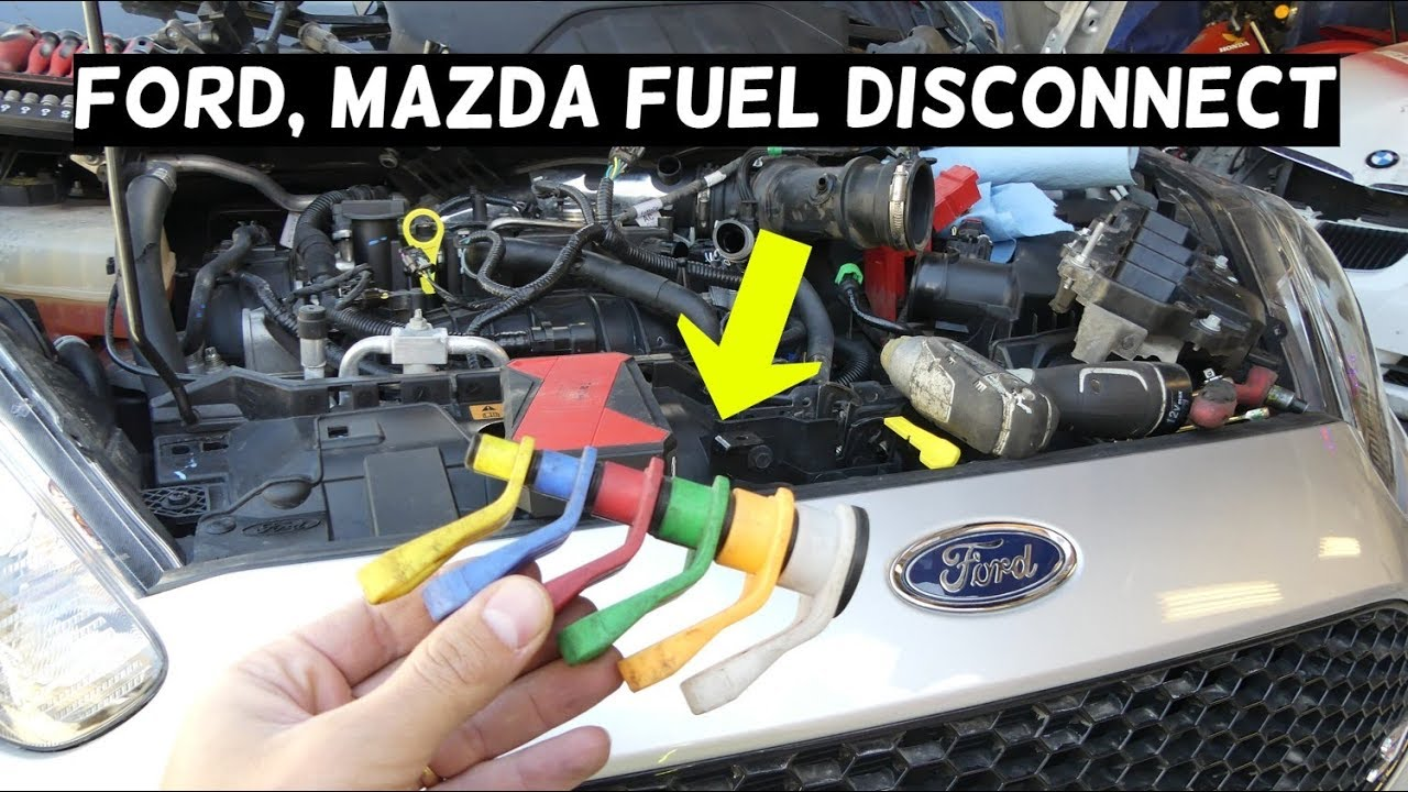 ford mazda fuel line disconnect how to disconnect fuel line [ 1280 x 720 Pixel ]