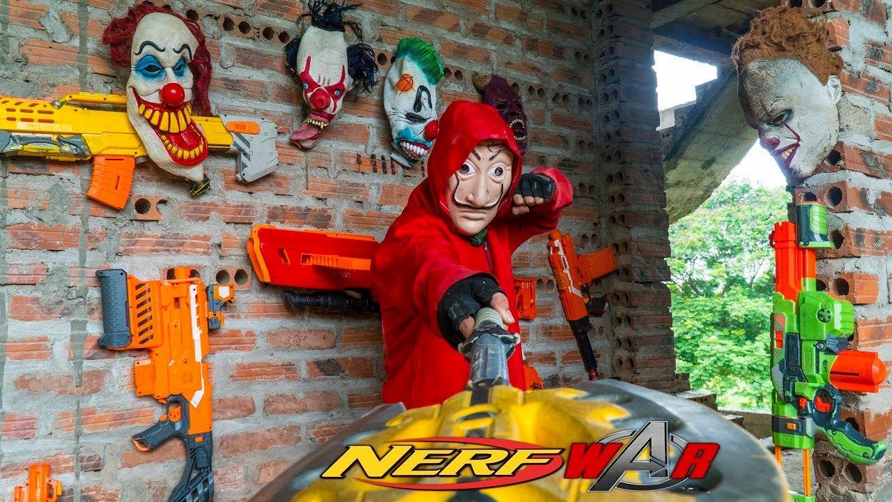 MASK Nerf War : Mission Squadron ALPHA Nerf Guns Fight Crime Group King's Man Mask