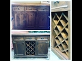 How to transform a dresser into a buffet with a wine rack by Chic Doctor