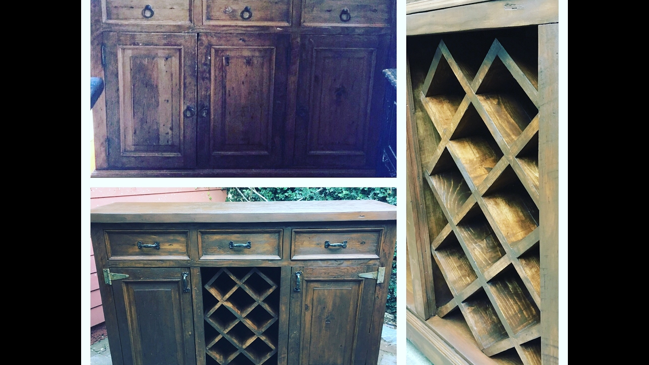 How To Transform A Dresser Into A Buffet With A Wine Rack By Chic