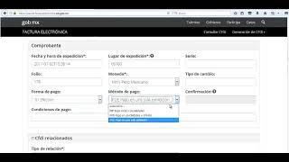 Tutorial Factura electronica CFDI version 3.3 en la plataforma del SAT