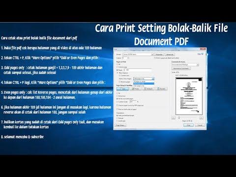 Cara Print Bolak Balik Seperti BUKU Pada File PDF    Printer LaserJet   