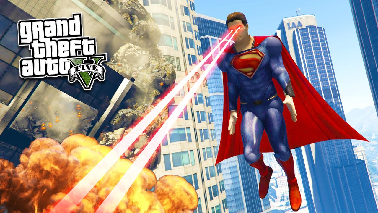 Gta  Pc Mods Ultra Realistic Superman Mod Gta  Superman Mod Gameplay Gta  Mod Gameplay Youtube