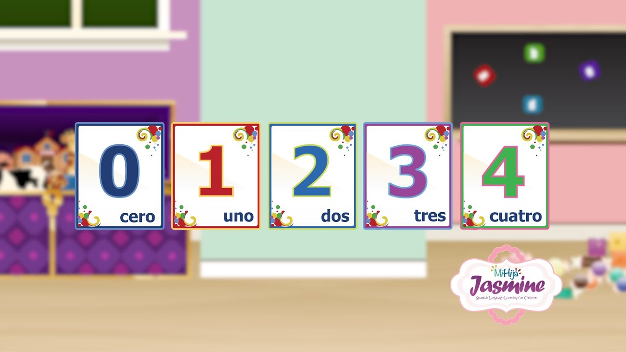 Learn Spanish Numbers 0 - 4 for Kids - YouTube