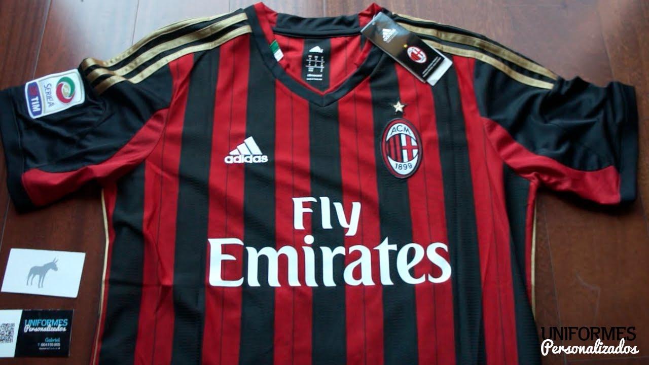 AC Milan 13-14 (Playera Local) Serie A. - YouTube 916ac2b311529