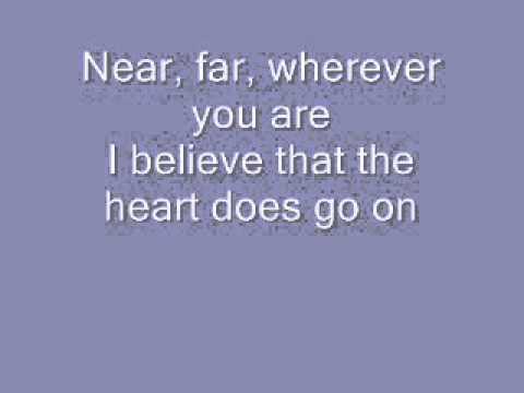Celine Dion-My Heart Will Go On (Titanic) tekst/Lyrics
