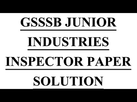 General Engineering mcq into #Gsssb Jr Industries Exam# Paper Solution