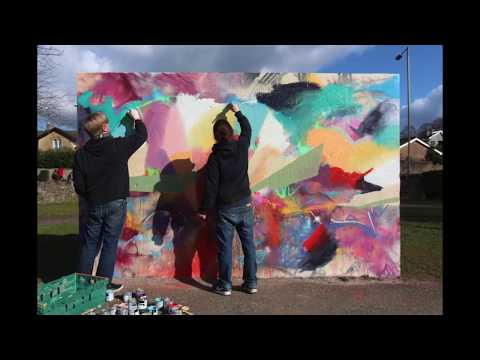Collaborative Painting UK @ Victoria Park, Frome