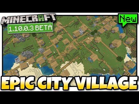 Minecraft - MEGA CITY VILLAGE @ SPAWN  Seed Showcase [  BETA ] MCPE /  Bedrock / Xbox / Windows 10