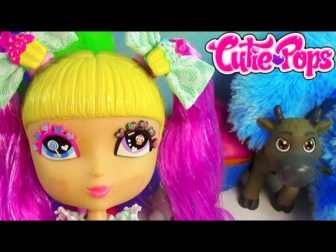 Cutie Pops Doll Pink Party Evening Hair Lollipop Eyes Toy Review Cookieswirlc :)