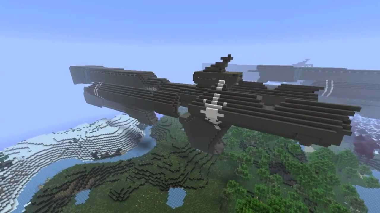 UNSC Frigate Fleet In Minecraft (Halo) - YouTube