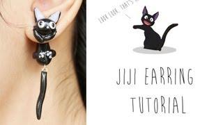 jiji cat polymer clay earrings kiki s delivery service tutorial
