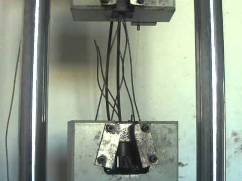 Ensayo tracci n cable de acero youtube - Cables de acero ...