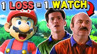 Every time I lose I watch the Super Mario Bros. movie