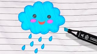 Let's Paint a Living Cloud! Learn Colors for Kids