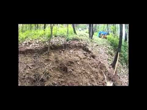 Off Grid Water Tank Install  -Hole Digging