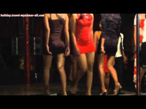 Burmese Girls At Night