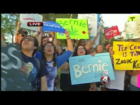 Miami Democratic presidential debate- Bernie supporters