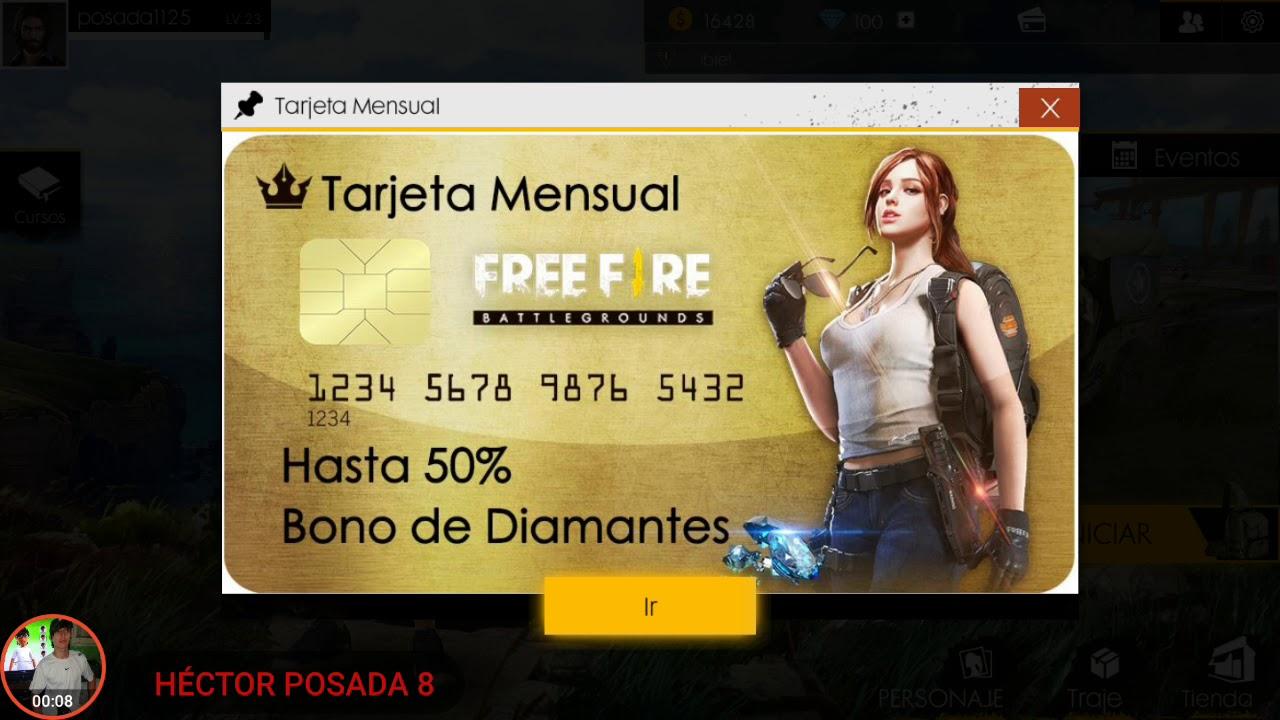 codigos de tarjetas de credito para free fire