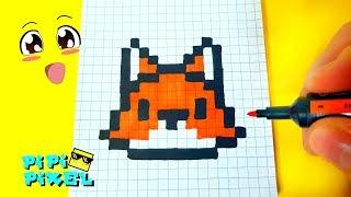 A FOX PIXEL ART HOW TO DRAW ! МИЛАЯ ЛИСИЧКА РИСУЕМ ПО КЛЕТОЧКАМ !Handmade Pixel Art
