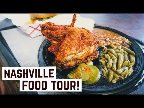 American Food - Delicious HOT CHICKEN and DIY Pancakes in Nashville, TN!