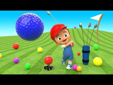 Crazy Baby Mini Golf Fun Game Play - Learn Colors for Children with Golf Balls 3D Kids Educational