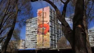 Гигантские муралы в Днепре на тему украинского фольклора