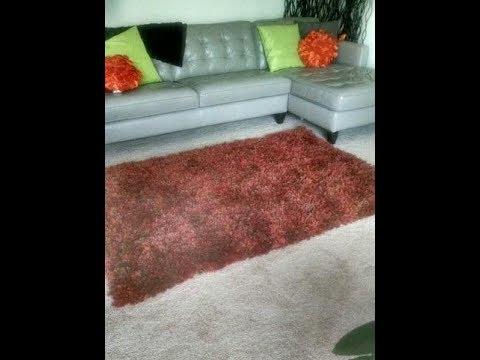 DIY Shag Rug  Fluffy Area Rug  Soft Thick Floor Rug - YouTube