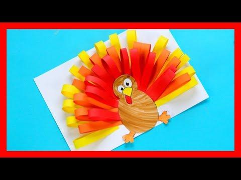 Paper Turkey Craft - fun Thanksgiving craft for kids