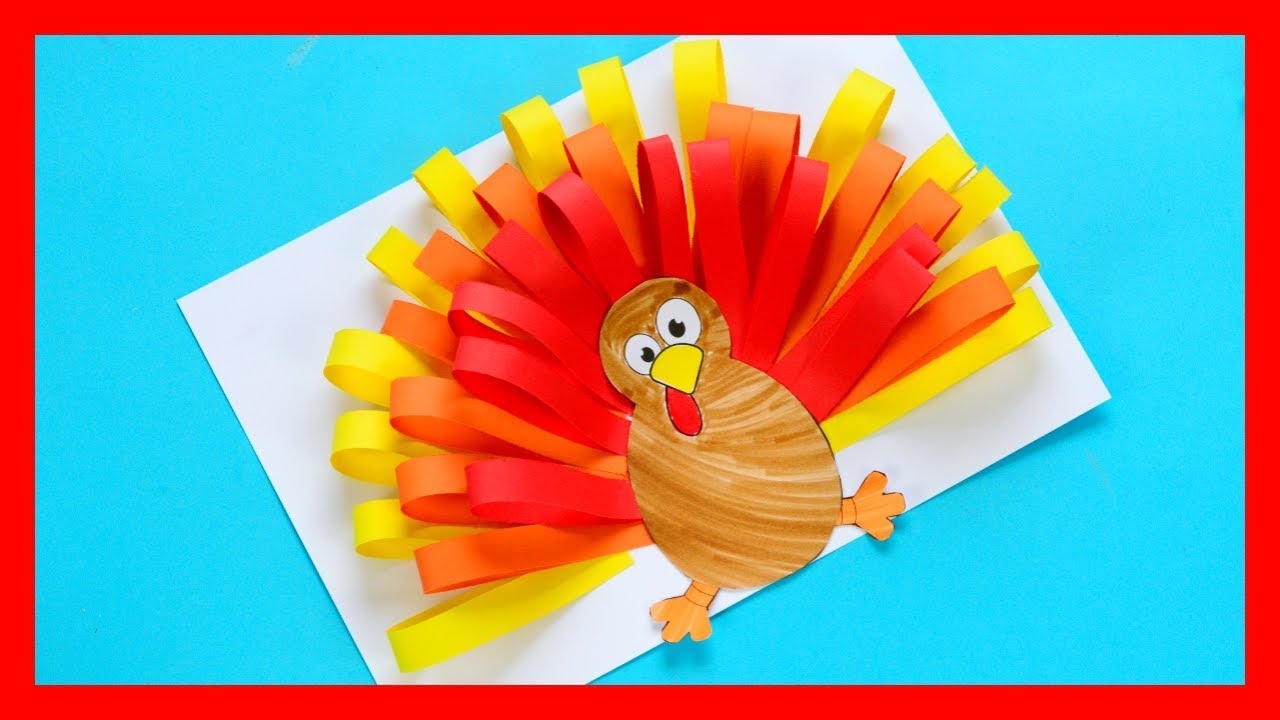 arts and craft ideas for preschoolers paper turkey craft thanksgiving craft for 7429