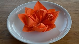 Repeat youtube video W+ Servietten falten: 'Blüte' für Hochzeit und Geburtstag
