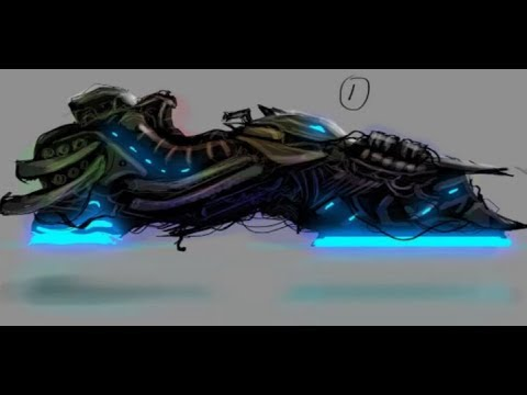 How to Concept Art  – Hover Bike Speed Painting