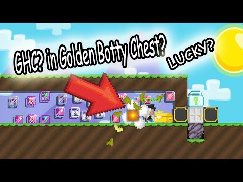 Growtopia | 50 Golden Booty Chest! AND I GOT THIS? OMG!? **LUCKY?**