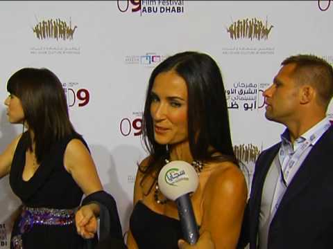 Hilary Swank and Demi Moore at Abu Dhabi film festival
