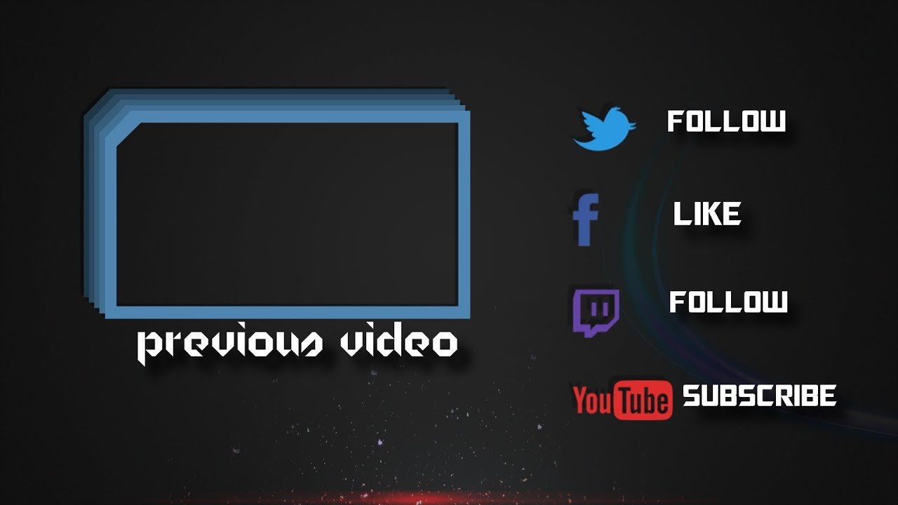 Outro2 rolling gold letters outro template for sony vegas for Free outro template