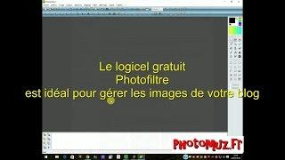 Photofiltre est idéal pour créerr des images de votre blog - tuto photographie