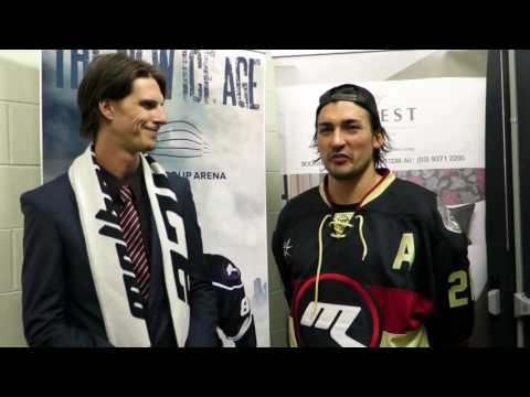 Joey Hughes Post Game Interview - Melbourne Ice vs Adelaide Adrenaline