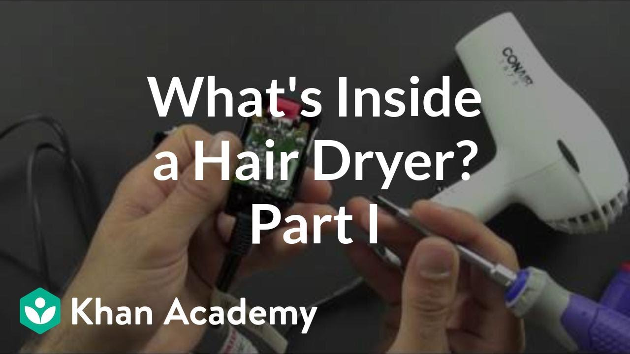 What is inside a hair dryer? (1 of 2) (video) | Khan Academy Hair Dryers Schematic Diagram on