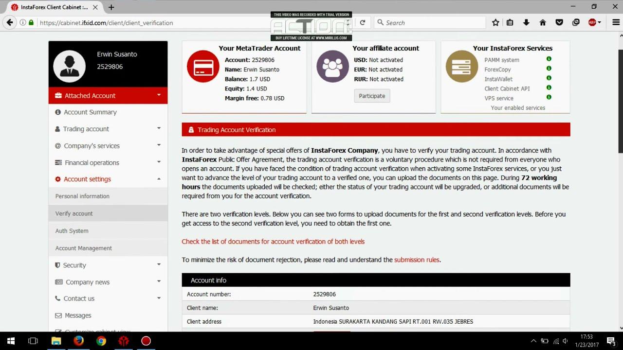 Cara Daftar Dan Registrasi InstaForex