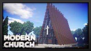 minecraft church modern