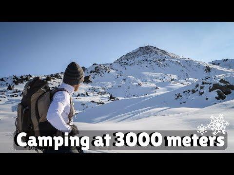 WINTER CAMPING AT 3000 METERS-Three brothers peak-Almaty-Kazakhstan