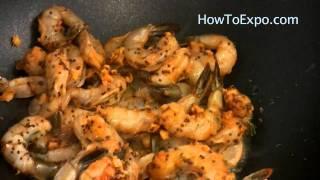 Stir Fry Shrimp With Spices